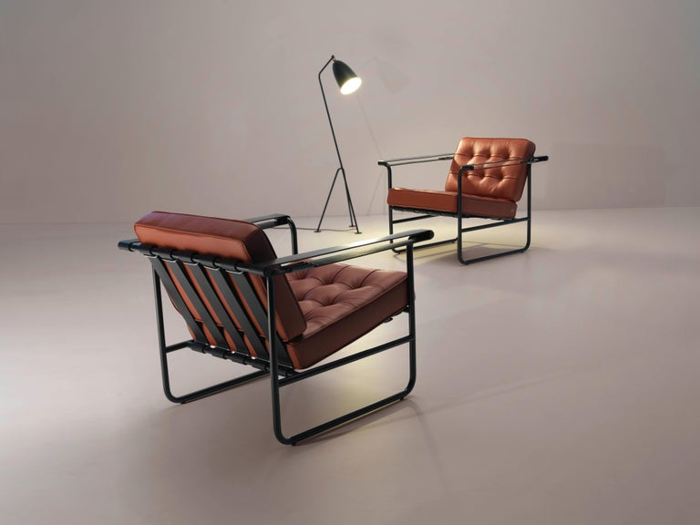 De Sede International Steel Tube Armchair by Hans Eichenberger In New Condition For Sale In New York, NY