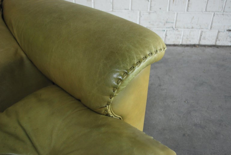 De Sede James Bond Leather Lounge Chair DS 101 Olive Green For Sale 11