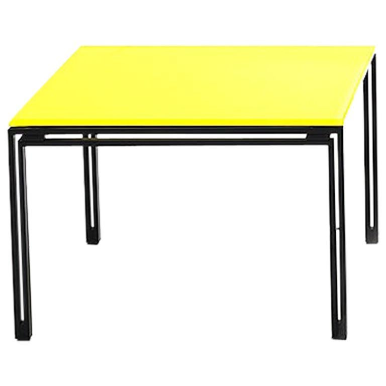De Sede KT-221 Table in Yellow Upholstery by Kurt Thut For Sale