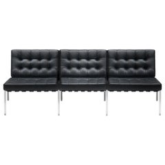 De Sede KT-221 Three-Seat Sofa in Black Upholstery by Kurt Thut