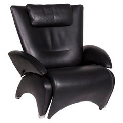 De Sede Leather Armchair Black Function Relax Function