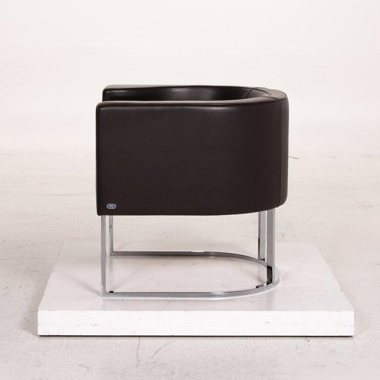De Sede Leather Armchair Brown Dark Brown For Sale 4