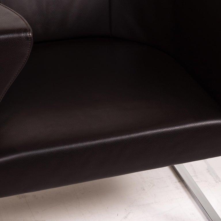 Modern De Sede Leather Armchair Brown Dark Brown For Sale