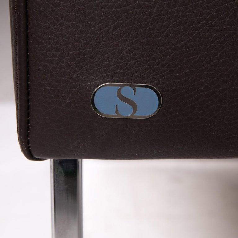 De Sede Leather Armchair Brown Dark Brown In Excellent Condition In Cologne, DE