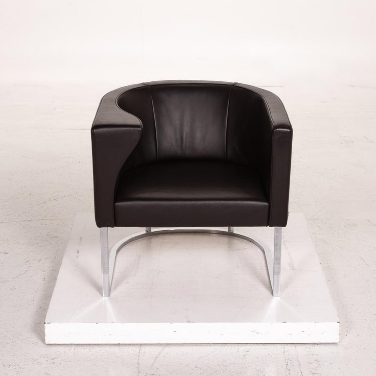 De Sede Leather Armchair Brown Dark Brown For Sale 1