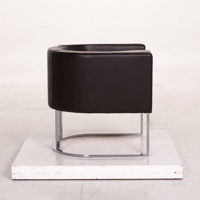 De Sede Leather Armchair Brown Dark Brown For Sale 2