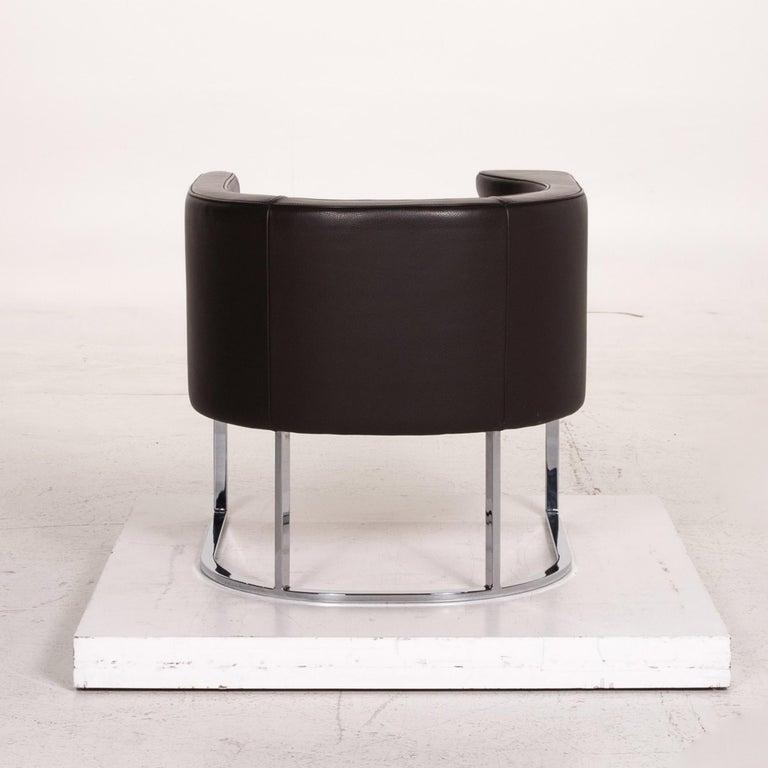 De Sede Leather Armchair Brown Dark Brown For Sale 3