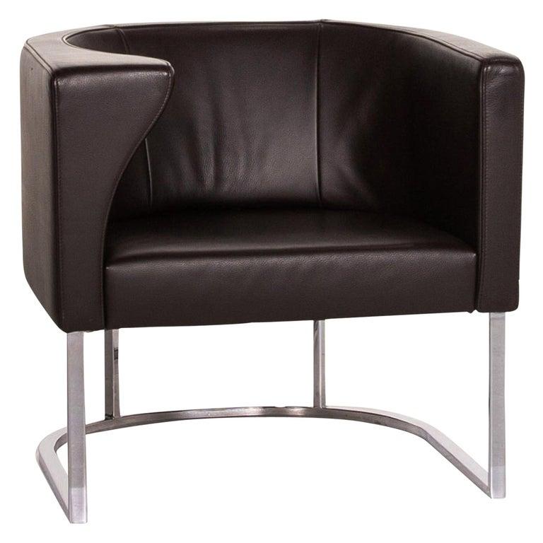 De Sede Leather Armchair Brown Dark Brown For Sale