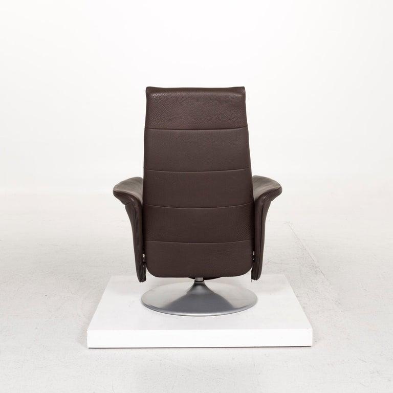 De Sede Leather Armchair Brown Dark Brown Function Relax Function Relax Armchair 4
