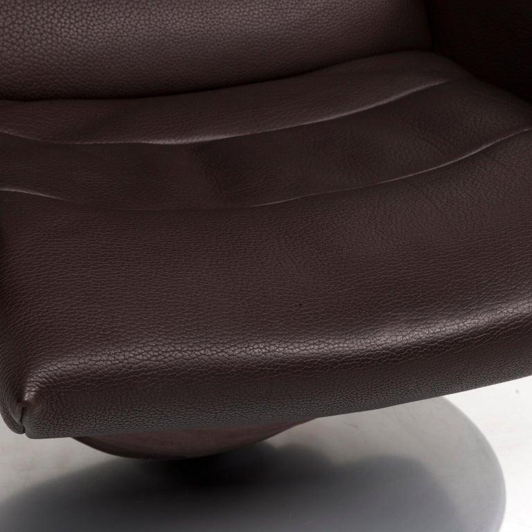 Modern De Sede Leather Armchair Brown Dark Brown Function Relax Function Relax Armchair
