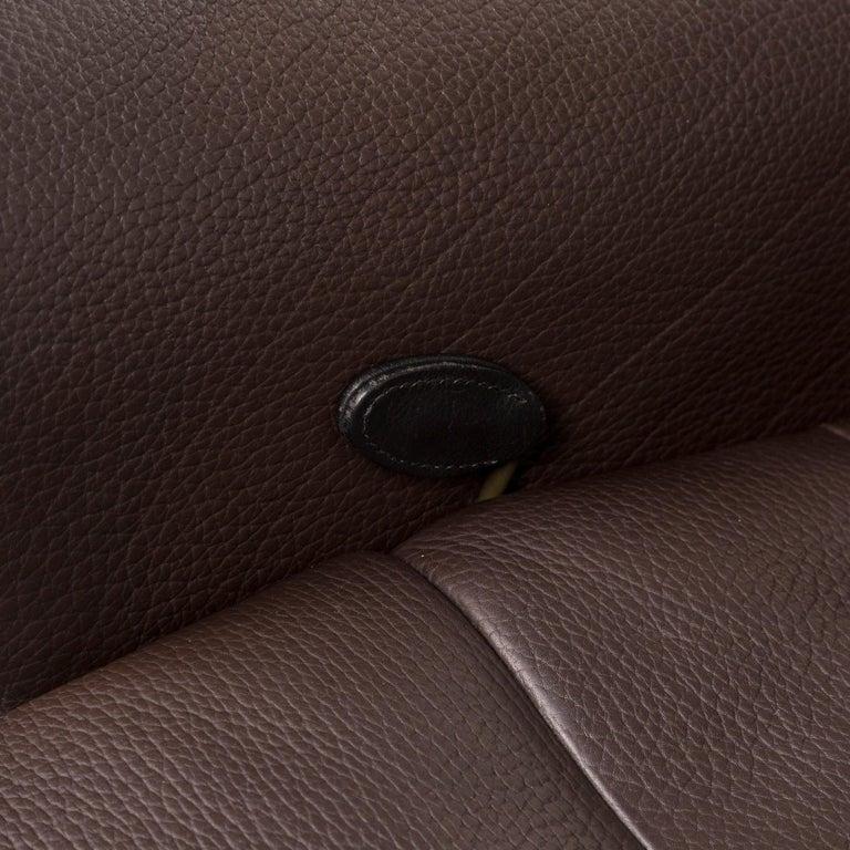 Swiss De Sede Leather Armchair Brown Dark Brown Function Relax Function Relax Armchair