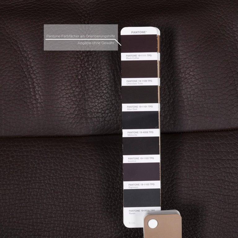 De Sede Leather Armchair Brown Dark Brown Function Relax Function Relax Armchair In Excellent Condition In Cologne, DE