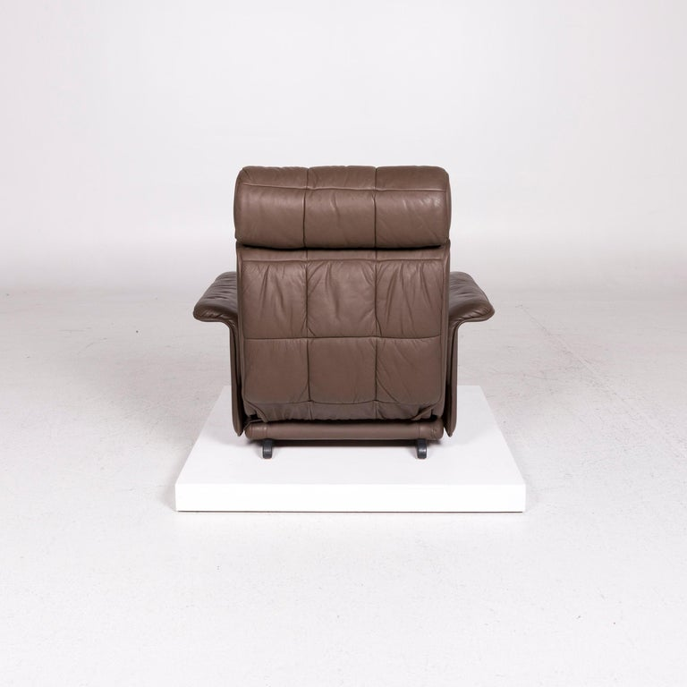 De Sede Leather Armchair Brown Eletric Function Relax Function For Sale 4