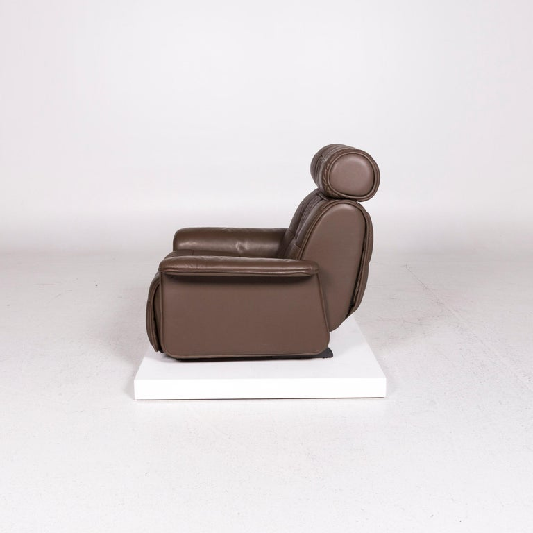 De Sede Leather Armchair Brown Eletric Function Relax Function For Sale 5