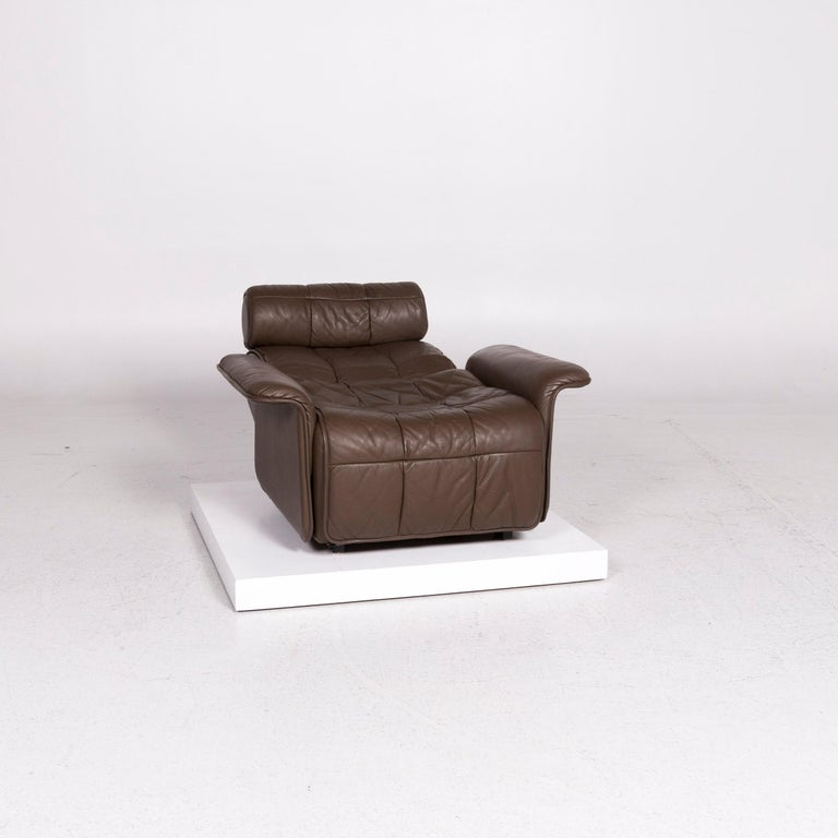 Modern De Sede Leather Armchair Brown Eletric Function Relax Function For Sale
