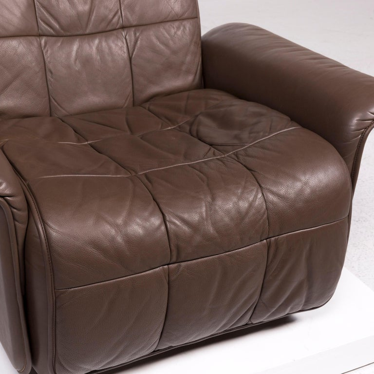 Swiss De Sede Leather Armchair Brown Eletric Function Relax Function For Sale