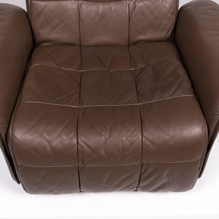 De Sede Leather Armchair Brown Eletric Function Relax Function In Good Condition For Sale In Cologne, DE