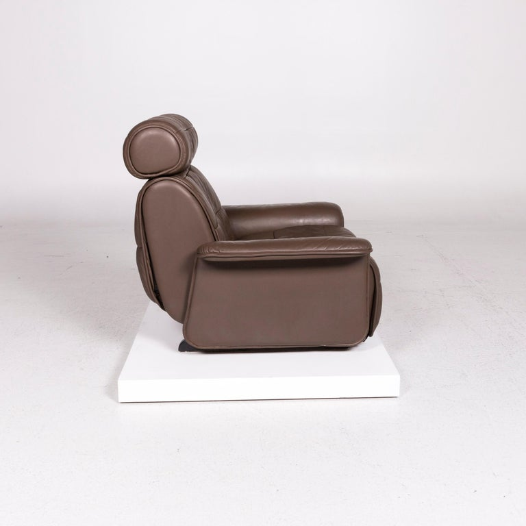 De Sede Leather Armchair Brown Eletric Function Relax Function For Sale 3
