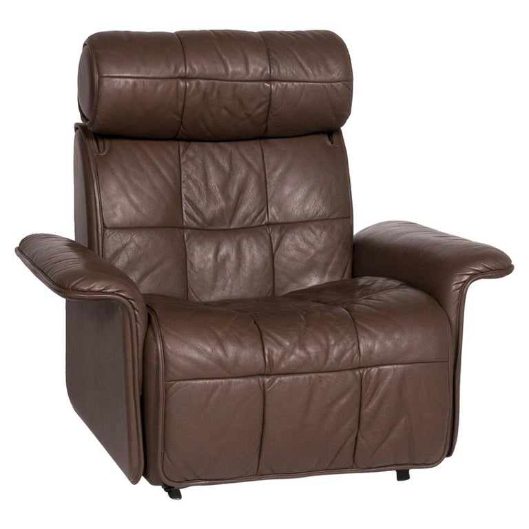 De Sede Leather Armchair Brown Eletric Function Relax Function For Sale