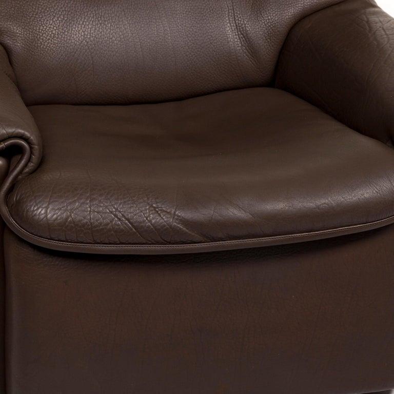 Modern De Sede Leather Armchair Brown For Sale