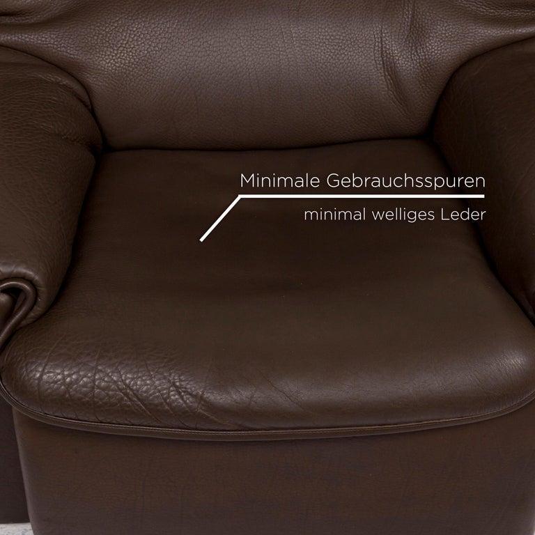 Swiss De Sede Leather Armchair Brown For Sale