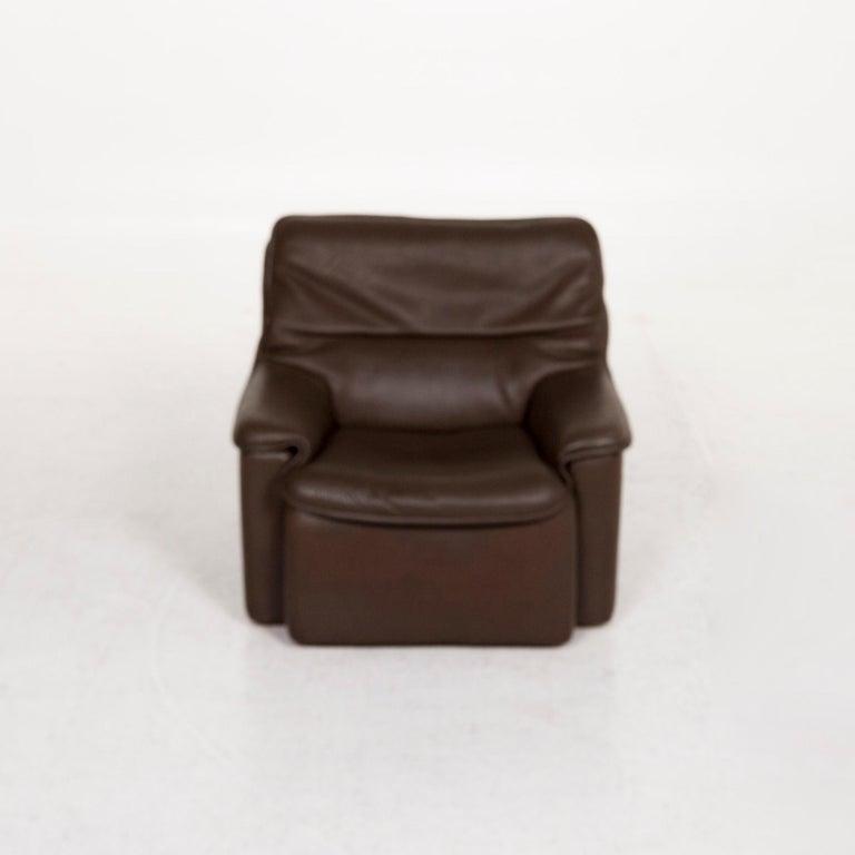Contemporary De Sede Leather Armchair Brown For Sale