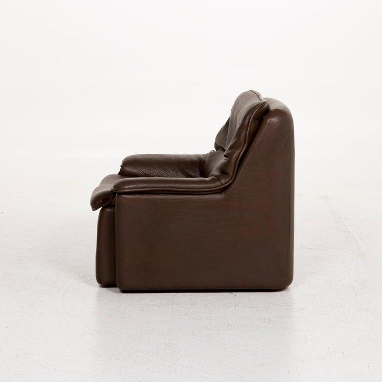 De Sede Leather Armchair Brown For Sale 3