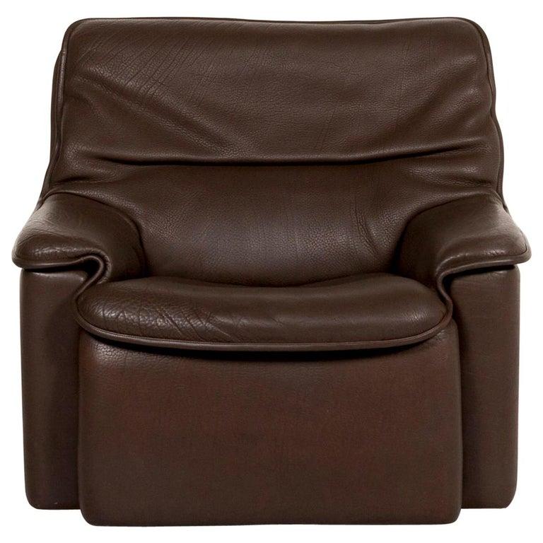 De Sede Leather Armchair Brown For Sale