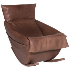 De Sede Leather Armchair Brown Rocking Chair