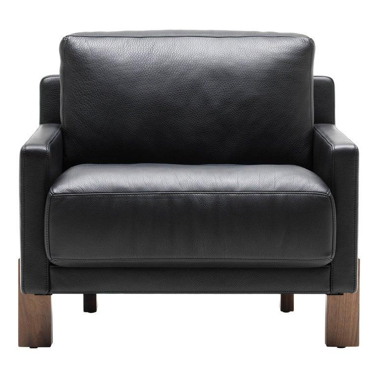 Black De Sede Leather Armchair by Stephan Hürlemann