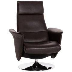 De Sede Leather Armchair Dark Brown Brown Function Relaxation Function