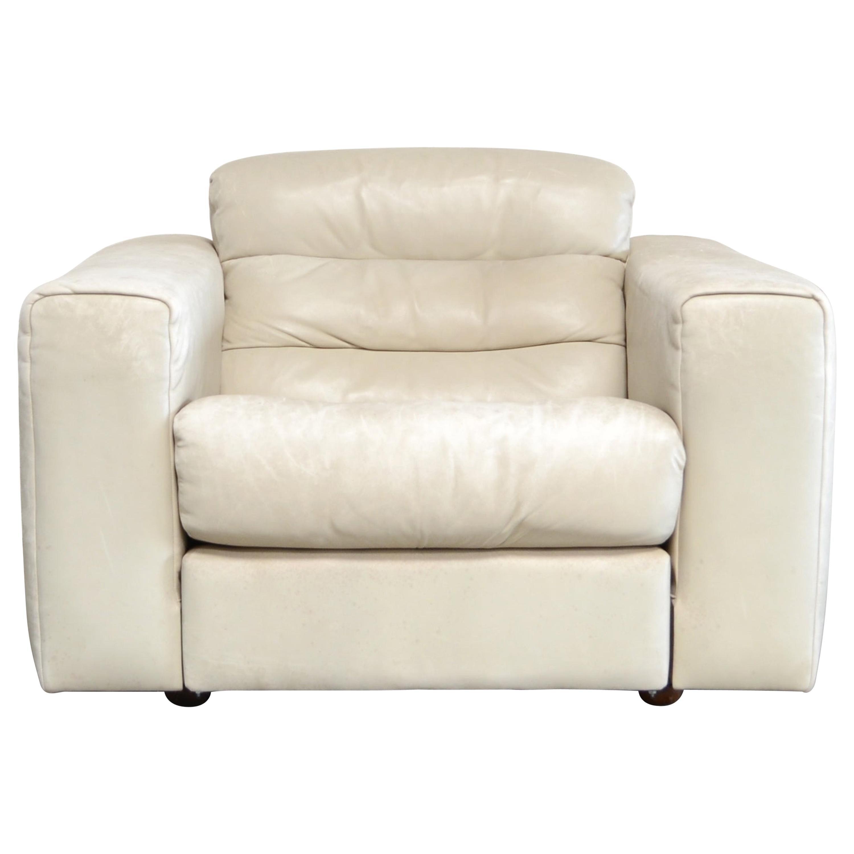 De Sede Leather Armchair DS 105 Ecru White