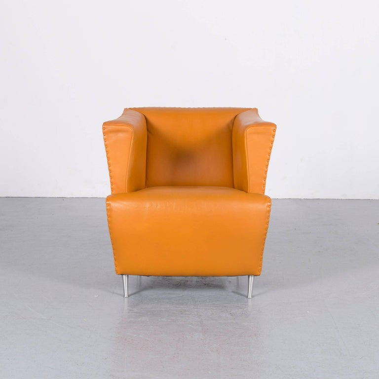 We bring to you an De Sede leather armchair yellow orange one-seat.