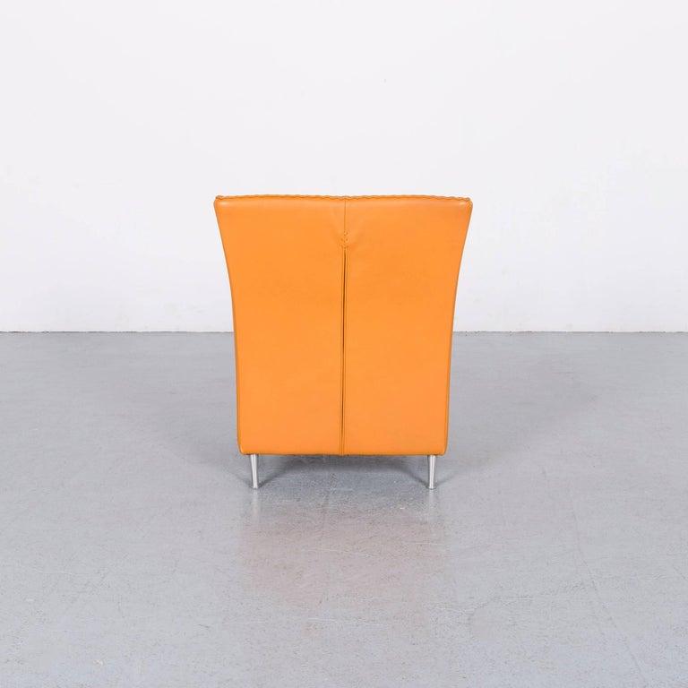 De Sede Leather Armchair Yellow Orange One-Seat 3
