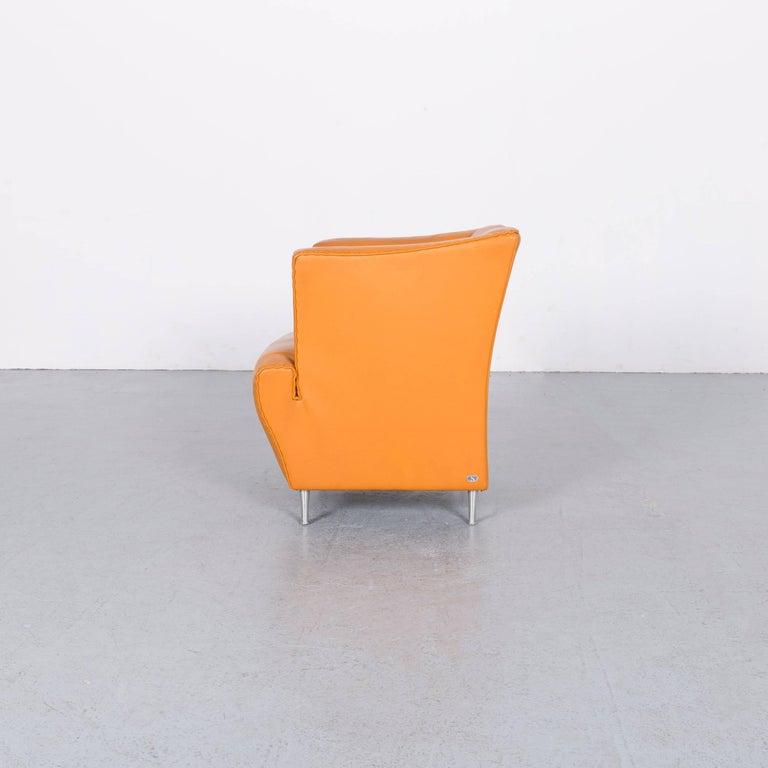 De Sede Leather Armchair Yellow Orange One-Seat 4