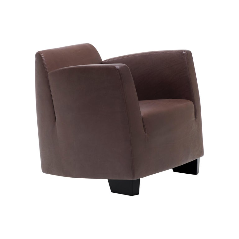For Sale: Brown (Cafe) De Sede Leather Club Chair by Kurt Erni