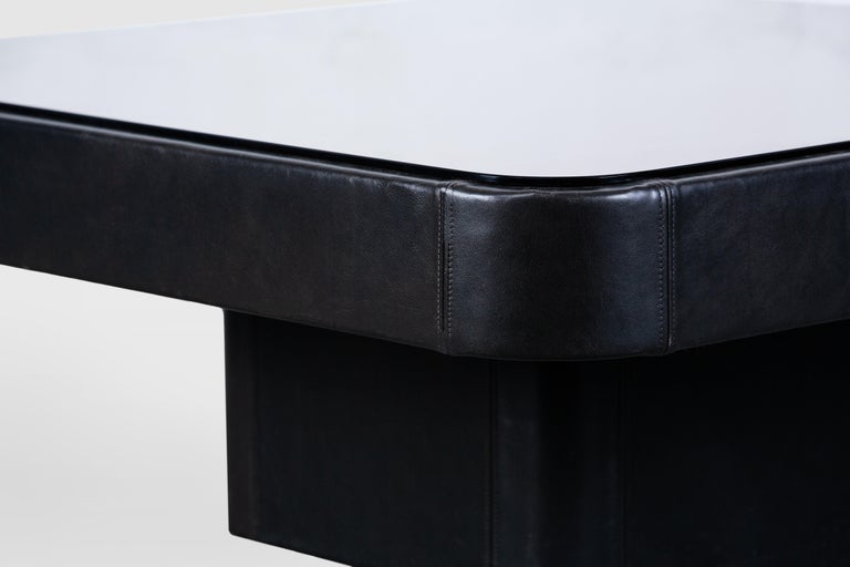 De Sede Leather Coffee Table In Good Condition For Sale In Torino, IT