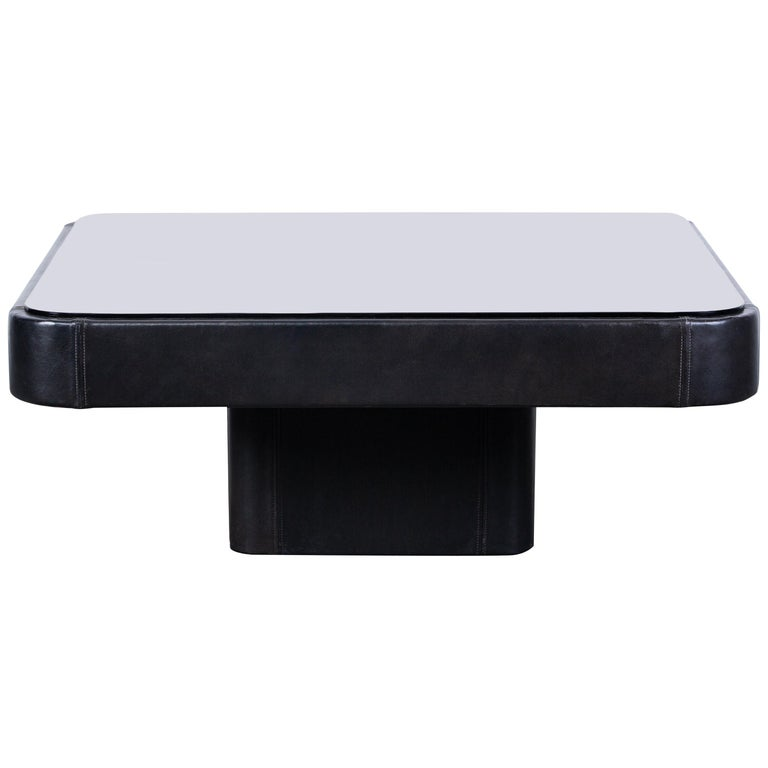 De Sede Leather Coffee Table For Sale