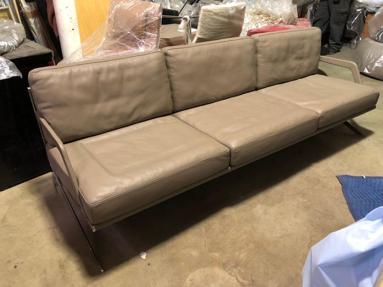 Swiss De Sede Leather DS 60 Sofa and Lounge Armchair For Sale