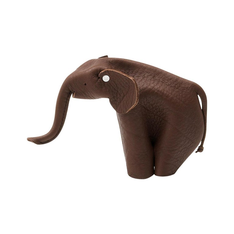 For Sale: Brown (NECK Whisky) De Sede Leather Elephant Toy Accessory by Alfredo Häberli