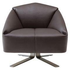 De Sede Leather Folds Armchair by Alfredo Häberli
