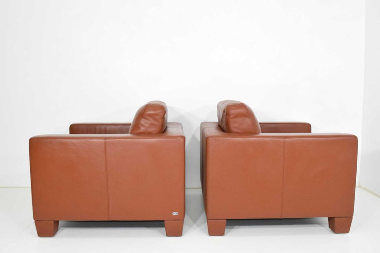 Swiss De Sede Leather Lounge Chairs For Sale