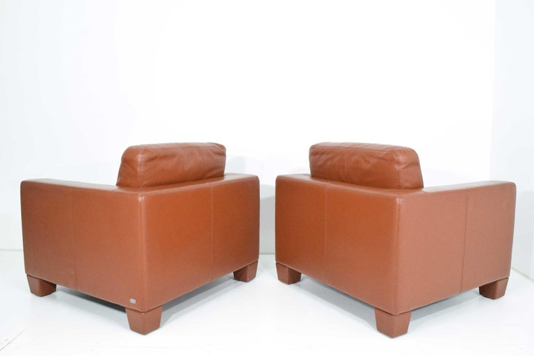 De Sede Leather Lounge Chairs In Excellent Condition For Sale In Dallas, TX