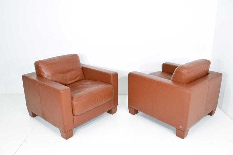 De Sede Leather Lounge Chairs For Sale 1