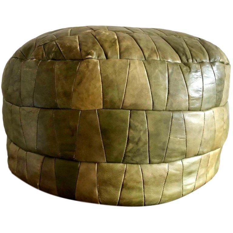 De Sede Leather Patchwork Ottomans For Sale 6
