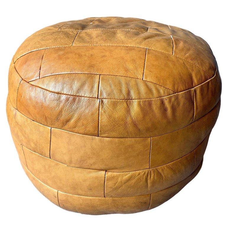 De Sede Leather Patchwork Ottomans For Sale 9