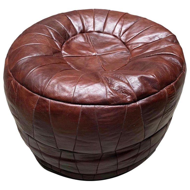 De Sede Leather Patchwork Ottomans For Sale 10