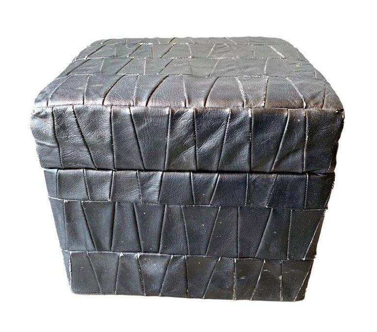 De Sede Leather Patchwork Ottomans For Sale 11