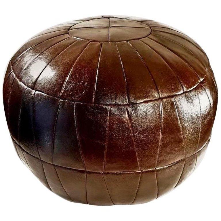 De Sede Leather Patchwork Ottomans For Sale 12