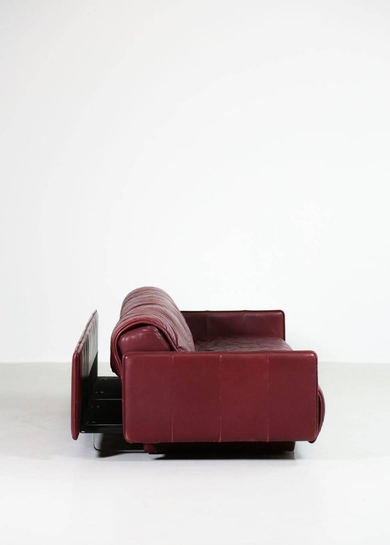 De Sede Leather Sofa Bed, 1970s Swiss Design DS85 DS600 For Sale 6